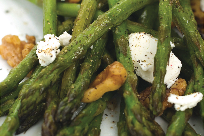 Joan of Arc Brie | Asparagus with Goat Cheese